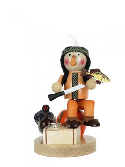 Produktbild SN17-SM-986 – Musical Smoker Indian on Pumpkin