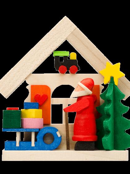 Produktbild GM21ORN001 – House Santa Claus with sledge