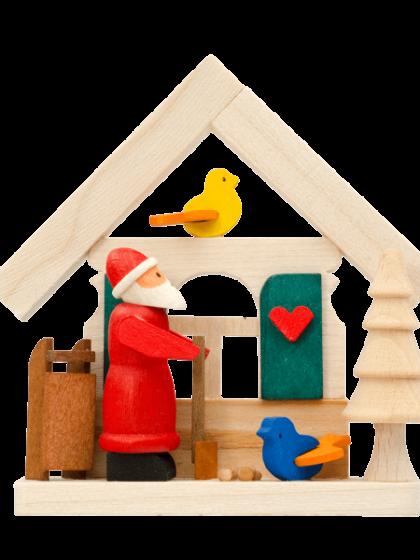 Produktbild GM21ORN003 – House Santa Claus with birds