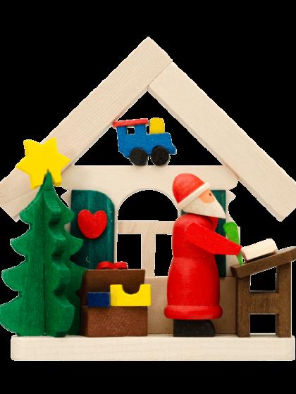 Produktbild GM21ORN006 – House Santa Claus with wish list