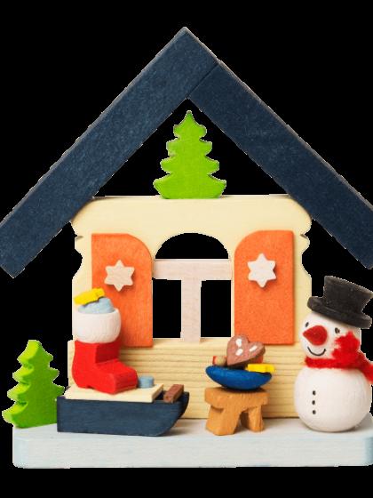 Produktbild GM21ORN014 – House Snowman with Santas sledge