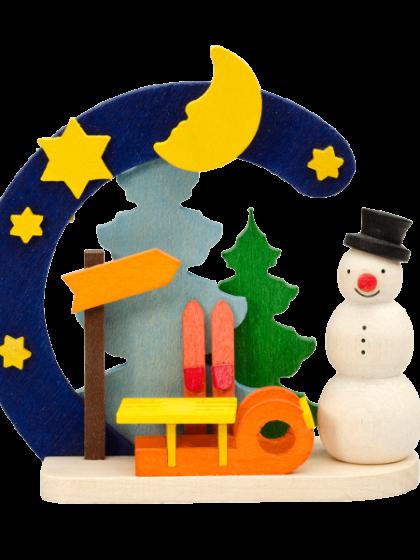 Produktbild GM21ORN016 – Arch Snowman with sledge