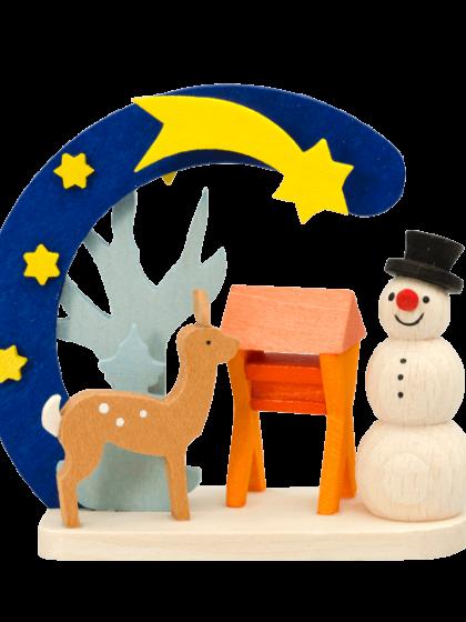 Produktbild GM21ORN018 – Arch Snowman with deer