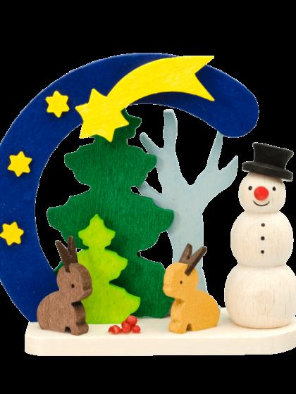 Produktbild GM21ORN019 – Arch Snowman with rabbits