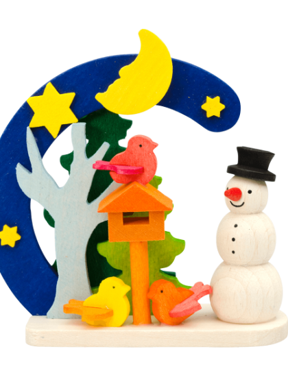 Produktbild GM21ORN021 – Arch Snowman with bird house