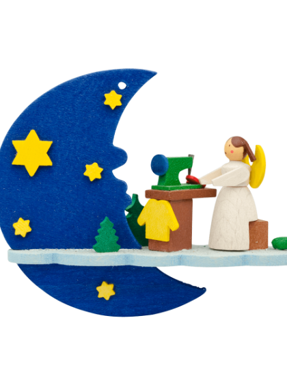 Produktbild GM21ORN028 – Moon and cloud Angel with sewing machine