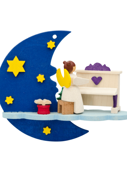 Produktbild GM21ORN029 – Moon and cloud Angel with piano