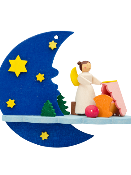 Produktbild GM21ORN032 – Moon and cloud Angel with cradle