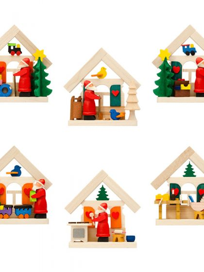 Produktbild GM21ORN007 – 6-Set House Santa Claus