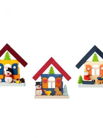 Produktbild GM21ORN015 – 3-Set House Snowman
