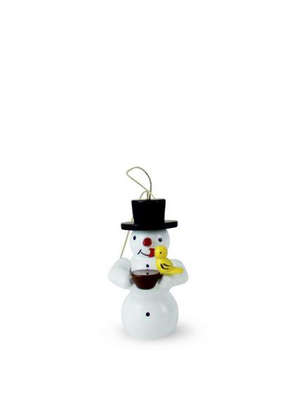 Produktbild G21ORN005 – Ornament Snowman with bird and bowl
