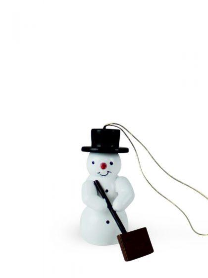 Produktbild G21ORN003 – Ornament Snowman with snowpusher